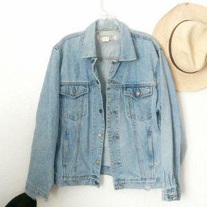 90s Vintage Grunge Distressed Denim Jean Jacket